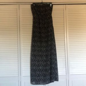 H&M Divided Black&White Strapless Maxi Dress Sz 4